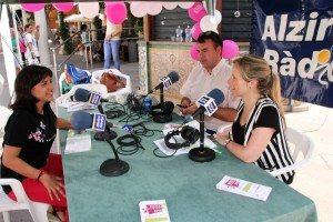 Aguilar entrevistada per Alzira Ràdio