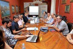 Diego Gómez en la reunicó celebrada a Alacant
