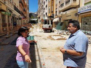 Els regidors Isabel Aguilar i Fernando Pascual