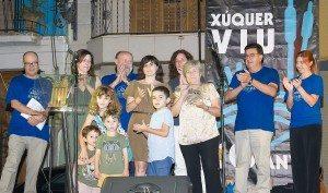 La família de Monolo Morató amb el premi