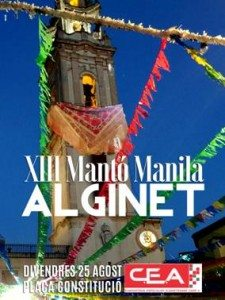Alginet mantó manila cartell