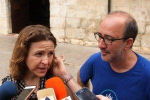 La consellera amb l'alcalde ahir a Alzira