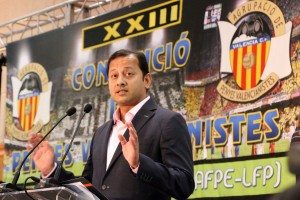 El president del València hui a Alzira