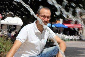 Rubio en la Plaça Major d'Alzira