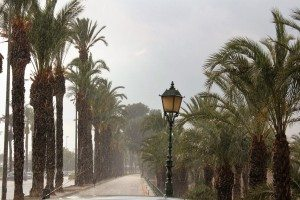 Imatge d'Alzira durant una pluja anterior