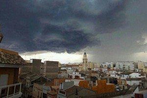 Nubolositat sobre Alzira / foto: Xavier Pérez