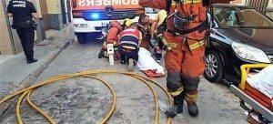 Moment del rescat / foto: Consorci Bombers
