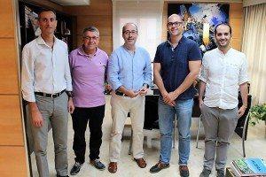 L'alcalde d'Alzira amb dirigents empresarial