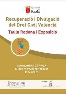 Dret Civil reunió Riola