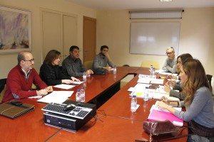 Diego Gómez i Pepe Grau en la reunió d'Educació