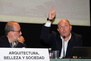 Diego Gómez i Quino Bono en la Casa de la Cultura