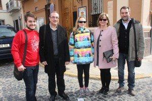 L'alcalde amb membres de l'equip de govern