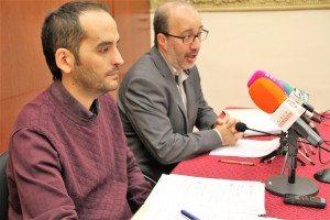 Albert Furió i Diego Gómez hui en roda de premsa
