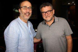 Carles Alberola amb l'alcalde Diego Gómez