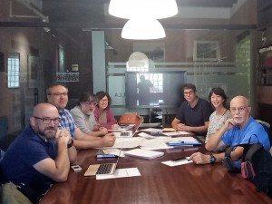 L'Alcalde de Morella Rhamcés Ripollés amb l'equip de QF Turisme