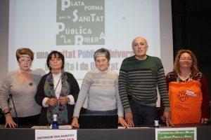 Eduard Hervás junt altress membres de la Plataforma