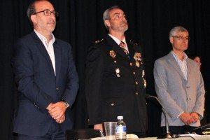 L'alcalde d'Alzira el comissari i el 1er tinent alcalde d'Algemesí