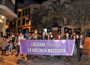 Alcudia violencia masclista pancarta