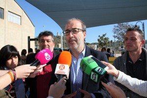 L'alcalde amb Aguilar Pascual i Martinez