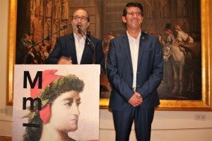 L'alcalde d'Alzira i el president de la Diputació en el MUMA