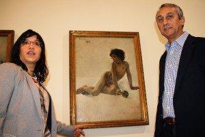 Aguilar amb el director del MUMA A. Ferrer