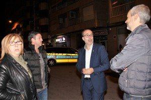 L'alcalde amb la regidora i l'Indendent de la Policia Local