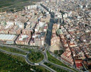 Vista aèria d'Alzira