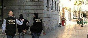 El detingut en els jutjats de Sueca